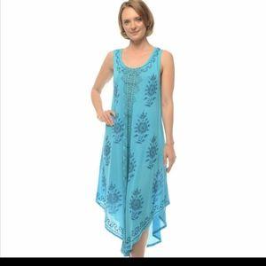 Boho Chic Batik Print Sleeveless Dress